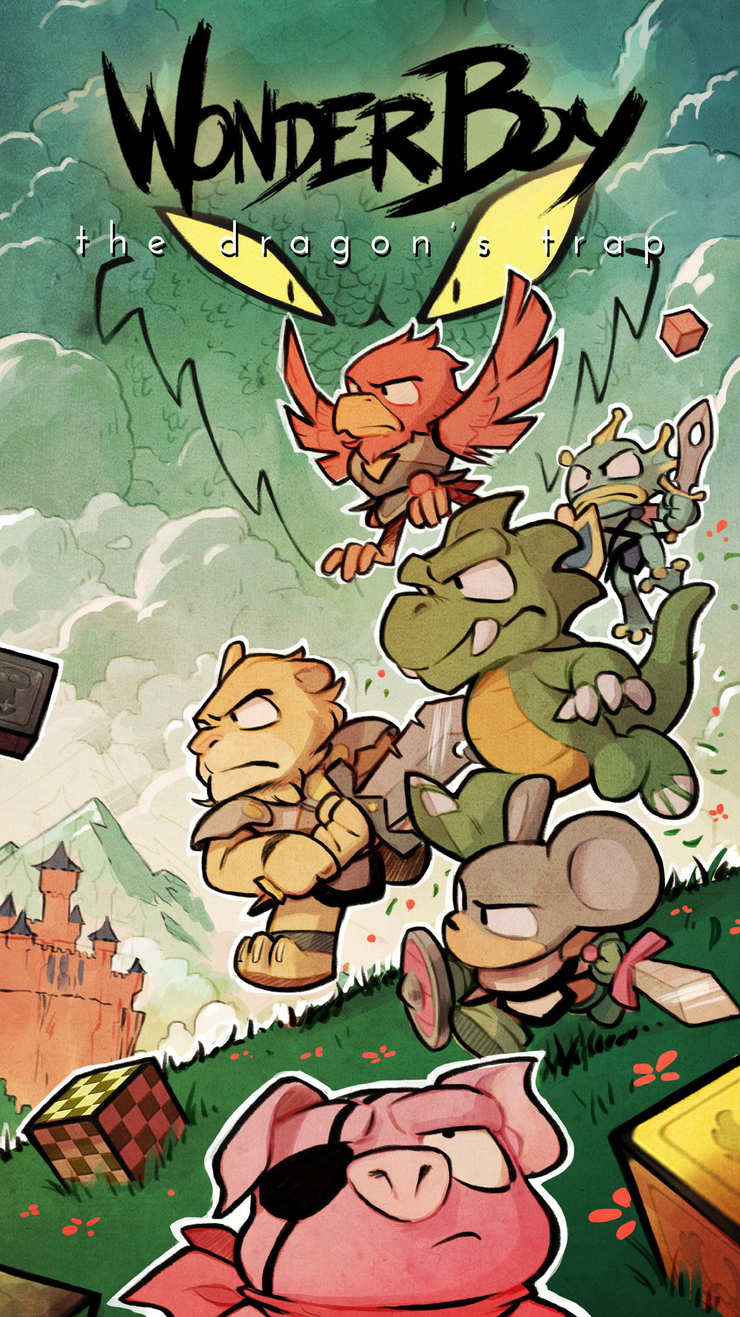 Mobile Wallpaper! · Wonder Boy: The Dragon's Trap Blog